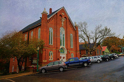 Photograph - Church In Downtown Weston Missouri by Liane Wright