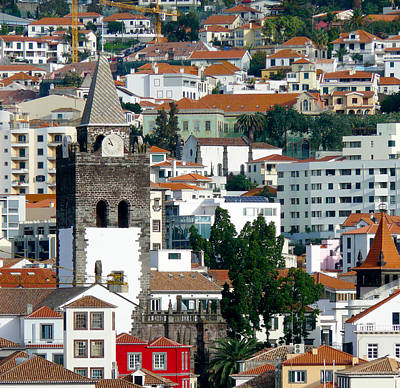 Church In Funchal Art Print by Tracy Winter