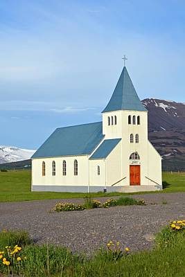 Hofsos Photograph - Church In Hofsos In Iceland by Nina Bowling