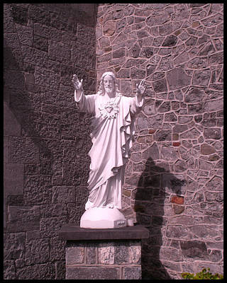 Photograph - Church In Kilkenny Ireland Statue Of Jesus by Gary Grayson