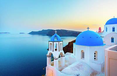 Photograph - Church In Oia On Santorini Island by Spooh