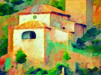 Painting - H - Church In Riglos Spain - Horizontal by Lyn Voytershark