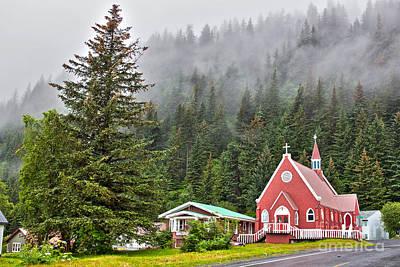 Church In Seward Alaska Art Print