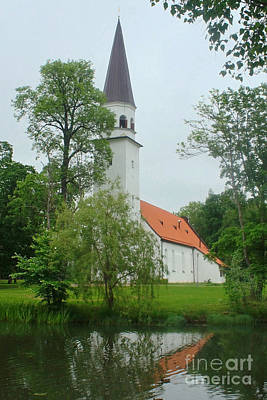 Photograph - church in Sigulda Latvia by Rudi Prott
