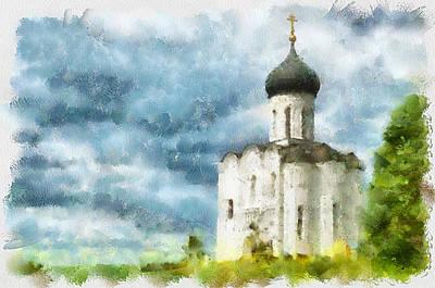 Siberia Digital Art - Church In Summer by Yury Malkov