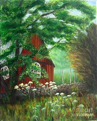 Painting - Church In The Glen by Laurie Morgan