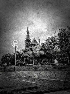 Citiscapes Photograph - Church In The Rain by H James Hoff