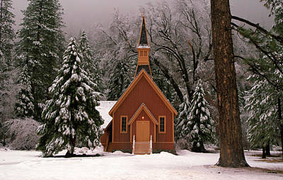 Photograph - Church In The Snow by Daniel Woodrum
