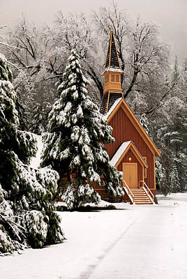 Photograph - Church In The Snow II by Daniel Woodrum