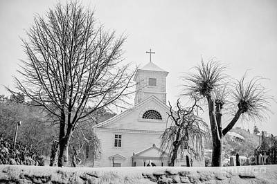 Church In The Snow Art Print by Mirra Photography