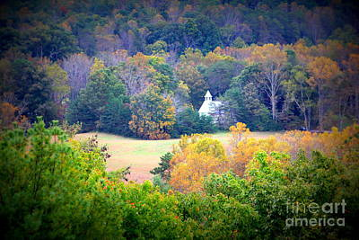 Photograph - Church In The Woods by Cynthia Mask