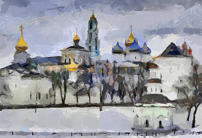 Digital Art - Church In Winter 4 by Yury Malkov