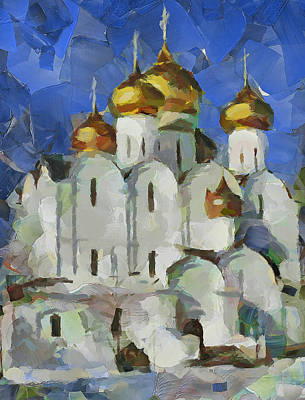 Digital Art - Church In Winter 5 by Yury Malkov