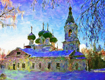 Digital Art - Church In Winter Colors 2 by Yury Malkov