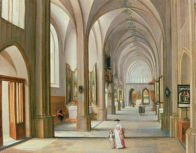 Church Interior Art Print by Hendrik van Steenwyck