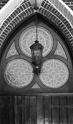 Photograph - Church Lantern Black And White by Mary Bedy