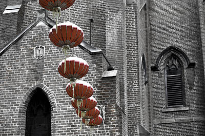 Church Lanterns Art Print