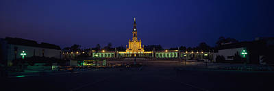 Our Lady Of Photograph - Church Lit Up At Night, Our Lady Of by Panoramic Images