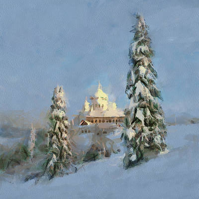 Digital Art - Church Lost In Winter by Yury Malkov