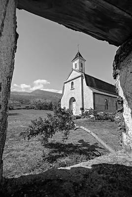 Photograph - St. Joseph's Church On Maui - Bw by Marilyn Wilson