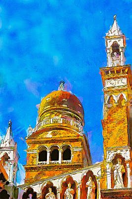 Art Print featuring the painting Church Of Madonna Dell'orto by Greg Collins