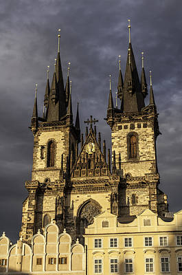 Medieval Temple Photograph - Church Of Mother Of God. Prague. by Fernando Barozza