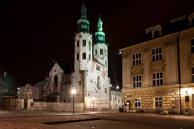 Mary Magdalene Photograph - Church Of St. Andrew At Night In Krakow by Artur Bogacki