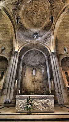Byzantine Icon Photograph - Church Of St. Anne - Jerusalem by Stephen Stookey