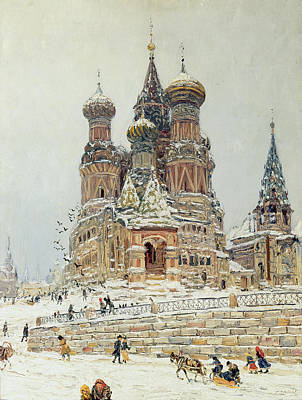 Painting - Church Of St. Basil In Moscow by Nikolay Dubovskoy