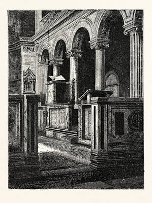 Clemente Drawing - Church Of St. Clemente by Italian School