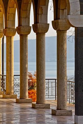 Photograph - Church Of The Beatitudes Columns by Anthony Doudt