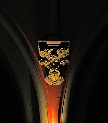 Photograph - Church Of The Covenant Pillar by Michael Saunders
