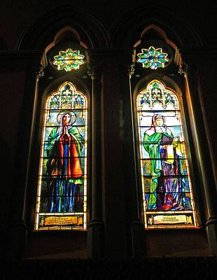 Photograph - Church Of The Covenant Stained Glass 10 by Michael Saunders