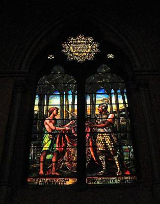 Photograph - Church Of The Covenant Stained Glass 3 by Michael Saunders