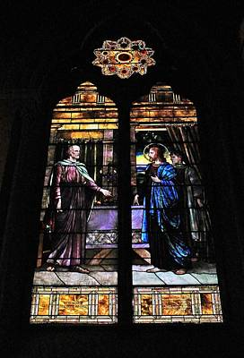 Photograph - Church Of The Covenant Stained Glass 4 by Michael Saunders