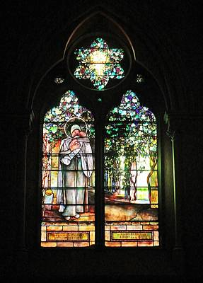 Photograph - Church Of The Covenant Stained Glass 5 by Michael Saunders