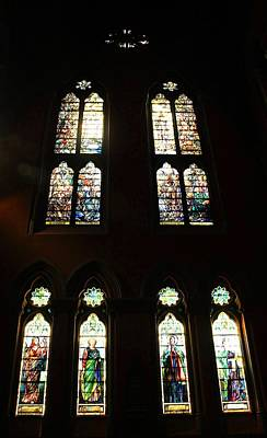 Photograph - Church Of The Covenant Stained Glass 6 by Michael Saunders