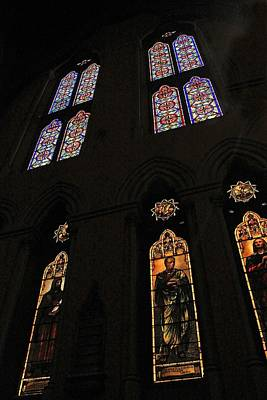 Photograph - Church Of The Covenant Stained Glass 7 by Michael Saunders