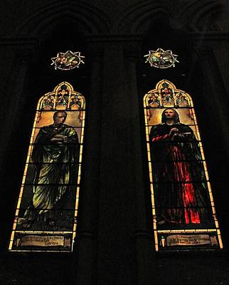 Photograph - Church Of The Covenant Stained Glass 8 by Michael Saunders