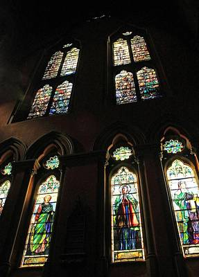 Photograph - Church Of The Covenant Stained Glass 9 by Michael Saunders