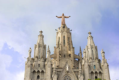 Church Of The Sacred Heart Tibidabo Barcelona  Art Print