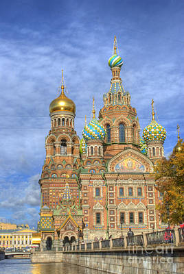 Domes Photograph - Church Of The Saviour On Spilled Blood. St. Petersburg. Russia by Juli Scalzi