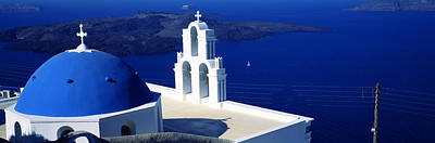 Agios Photograph - Church On An Island, Agios Theodoros by Panoramic Images