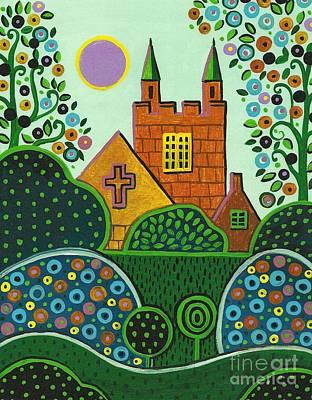 Wedding Chapel Painting - Church On Easter Sunday by Margaryta Yermolayeva