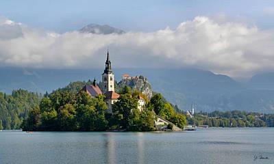 Church On Lake Bled Island Art Print