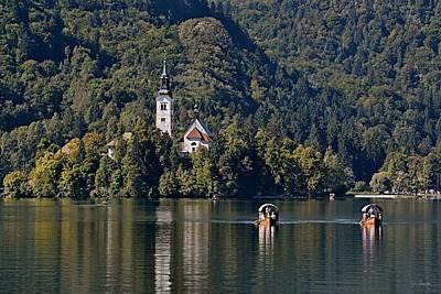 Photograph - Church On Lake Bled Island No. 3 by Joe Bonita