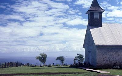 Photograph - Church On Maui by Pat Knieff