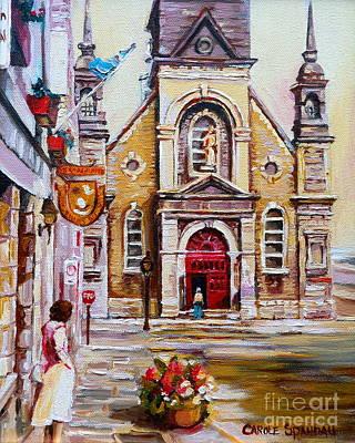 Painting - Church On Sunday by Carole Spandau