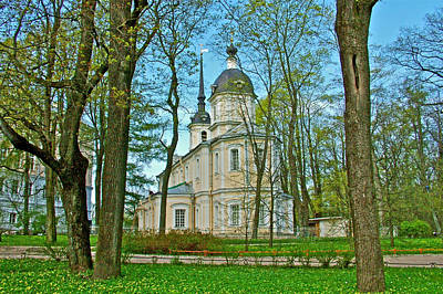 Catherine Palace In Russia Photograph - Church On The Grounds Of Catherine's Palace In Pushkin-russia by Ruth Hager