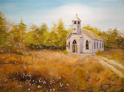 Church On The Hill Art Print